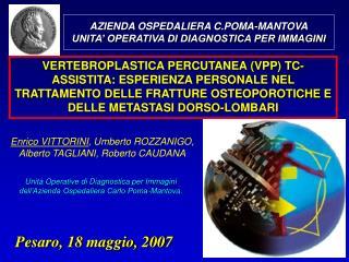 Enrico VITTORINI , Umberto ROZZANIGO, Alberto TAGLIANI, Roberto CAUDANA