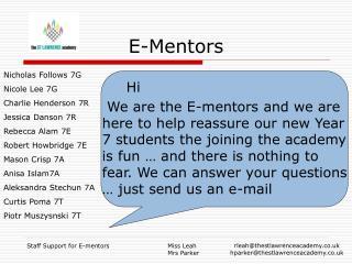 E-Mentors