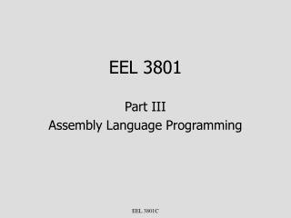 EEL 3801