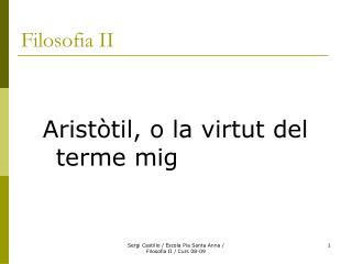 Filosofia II