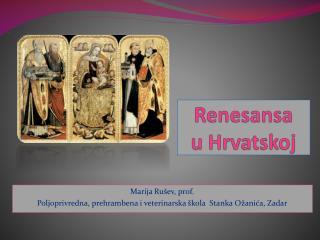 Renesansa u Hrvatskoj