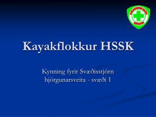 Kayakflokkur HSSK