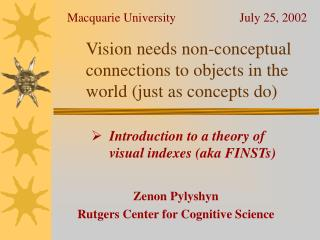 Vision needs non-conceptual connections to objects in the world (just as concepts do)