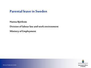 Parental leave in Sweden