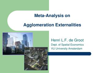 Meta-Analysis on  Agglomeration Externalities