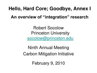 "Hello, Hard Core; Goodbye, Annex I An overview of ""integration"" research"