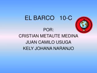 EL BARCO   10-C