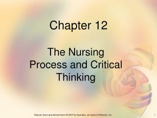 critical thinking in nursing practice ppt