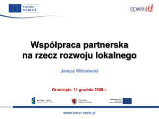 Współpraca partnerska  na rzecz rozwoju lokalnego