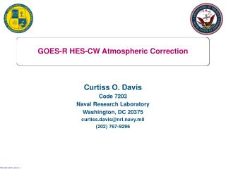GOES-R HES-CW Atmospheric Correction