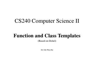 CS240 Computer Science II