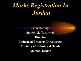 Marks Registration In    Jordan