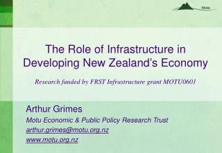 The Role of Infrastructure in Developing New Zealand's Economy