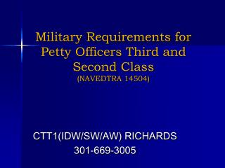 Military Requirements for Petty Officers Third and Second Class  (NAVEDTRA 14504)