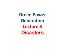 Green Power Generation
