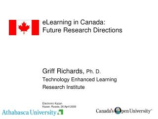 eLearning in Canada: Future Research Directions