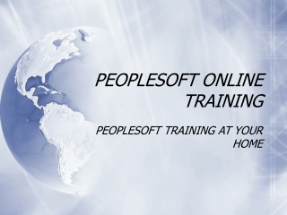 PeopleSoft Training