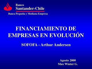 FINANCIAMIENTO DE EMPRESAS EN EVOLUCIÓN SOFOFA - Arthur Andersen