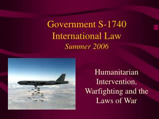 Government S-1740 International Law Summer 2006