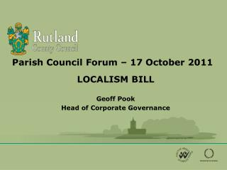 Parish Council Forum – 17 October 2011
