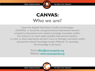 Centre for Applied NonViolent Conflict and Strategies