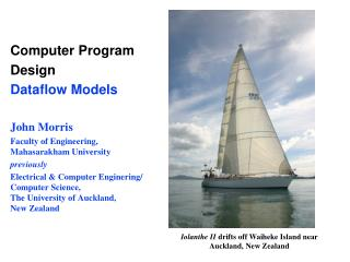 Computer Program Design Dataflow Models John Morris