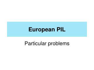 European PIL