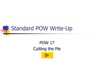 Standard POW Write-Up