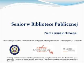 Senior w Bibliotece Publicznej