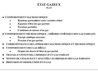 TAT GAZEUX PLAN