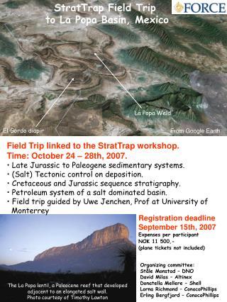 StratTrap Field Trip  to La Popa Basin, Mexico