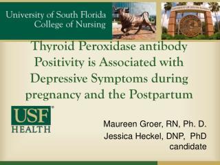 Maureen  Groer , RN, Ph. D. Jessica  Heckel , DNP,  PhD candidate
