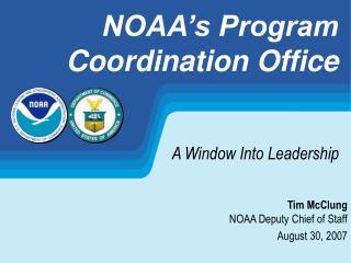 NOAA s Program  Coordination Office