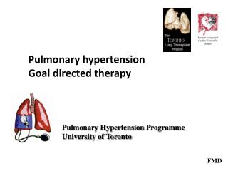 Pulmonary hypertension Goal directed therapy