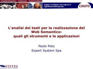 L'analisi dei testi per la realizzazione del Web Semantico:  quali gli strumenti e le applicazioni