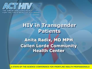 HIV in Transgender Patients