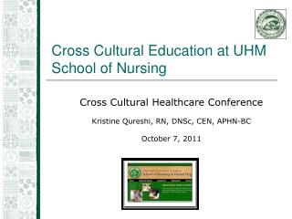 Cross Cultural Education at UHM School of Nursing