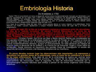 Embriolog a Historia