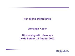 Functional Membranes