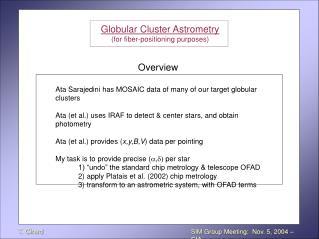 SIM Group Meeting:  Nov. 5, 2004 – CfA