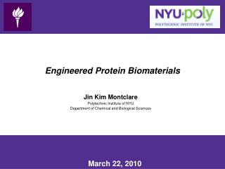 Engineered Protein Biomaterials
