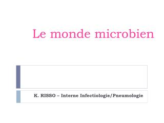 Le monde microbien