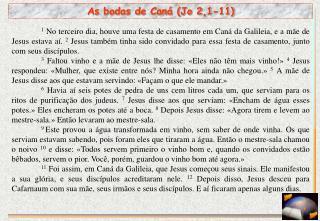 As bodas de Caná (Jo 2,1-11)