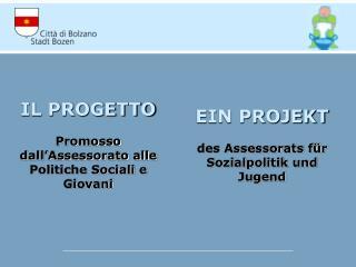 IL PROGETTO Promosso dall'Assessorato alle Politiche Sociali e Giovani