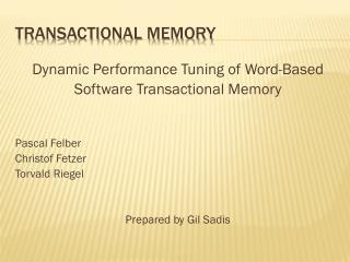Gil-presentation