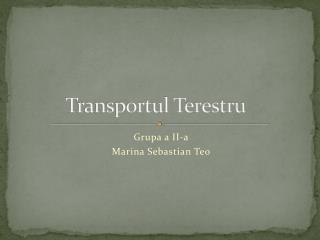 Transportul Terestru
