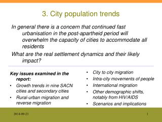 3. City population trends