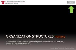 Organization Structures training