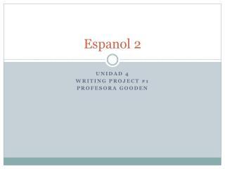 Espanol 2