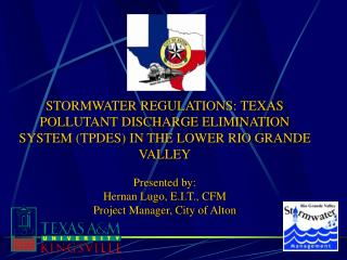 Presented by:  Hernan Lugo, E.I.T., CFM Project Manager, City of Alton